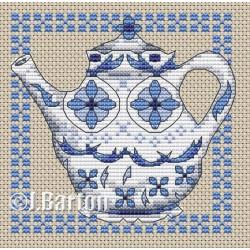 Delft teapot (cross stitch download)
