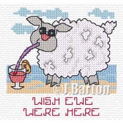 Wish ewe were here cross stitch chart