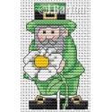 Lucky leprechaun cross stitch chart