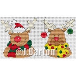 Rudolph (cross stitch chart download)