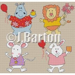 Happy animals (cross stitch chart download)