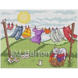 Wash day (cross stitch chart download)