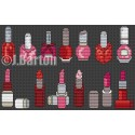 Makeup collection (cross stitch chart download)